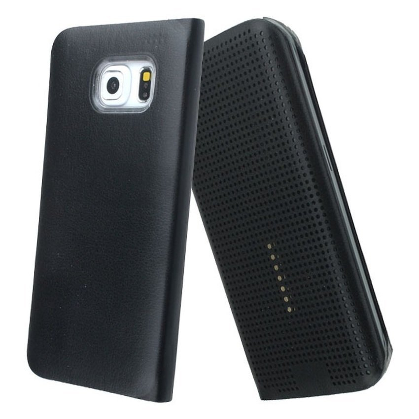 Universal Dot View Case for Samsung Galaxy S6 - Hitam