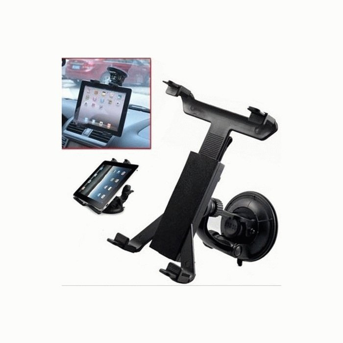Universal Durable Car Mount Holder for Galaxy Tab iPad Tablet PC - Hitam