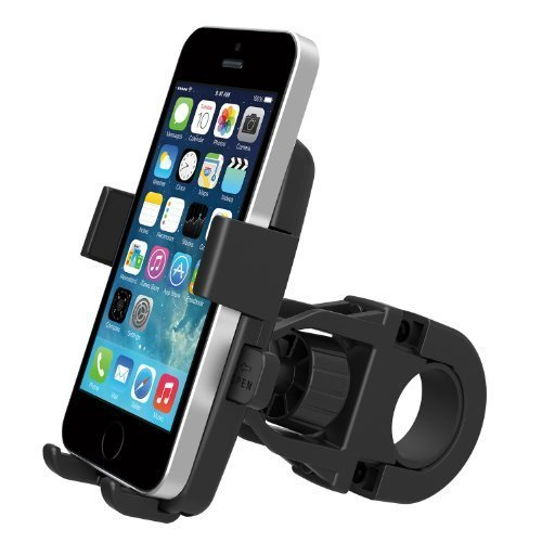 Universal Easy One Touch Square Bike Mount for Smartphone - Hitam