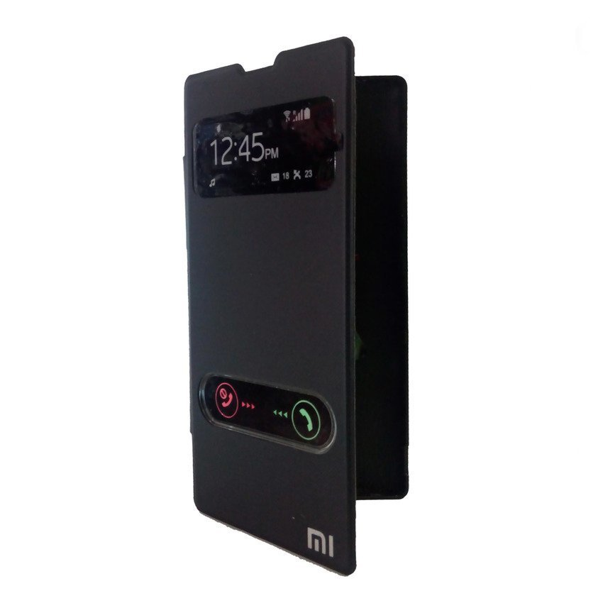 Universal Flip Cover View for Redmi 1S - Hitam