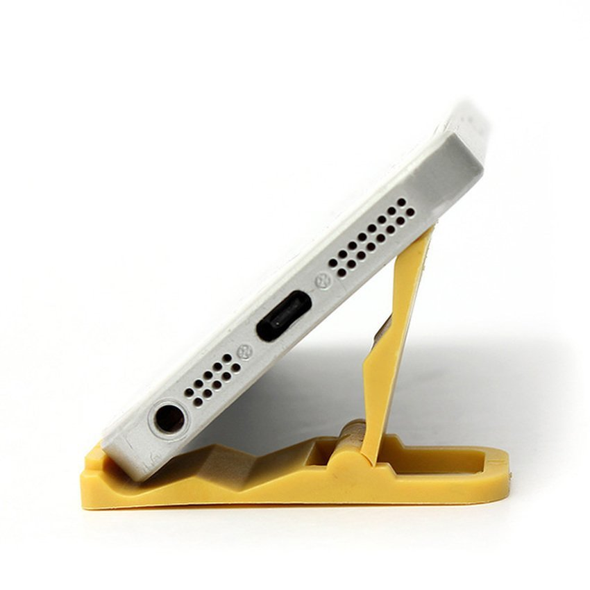 Universal Foldable Mini Cell Phone Stand Holder for iPhone Galaxy HTC Huawei Yellow (Intl)