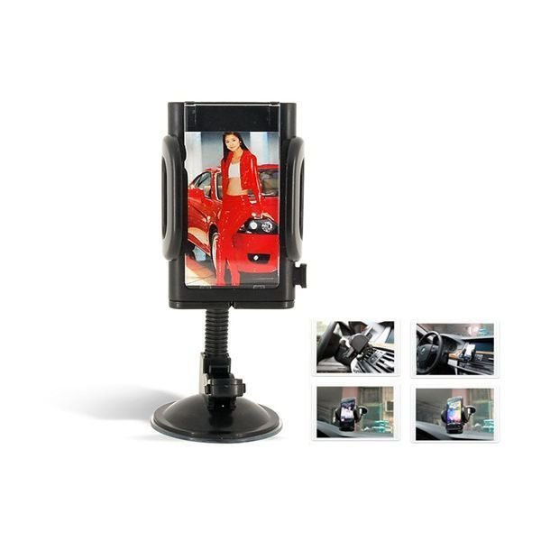 Universal Goose neck MP3/PDA/Cell Phone Car Holder (Black)