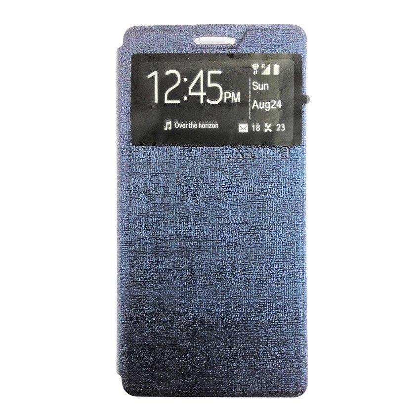 Universal Leather Case Lenovo A6000 - Biru Dongker
