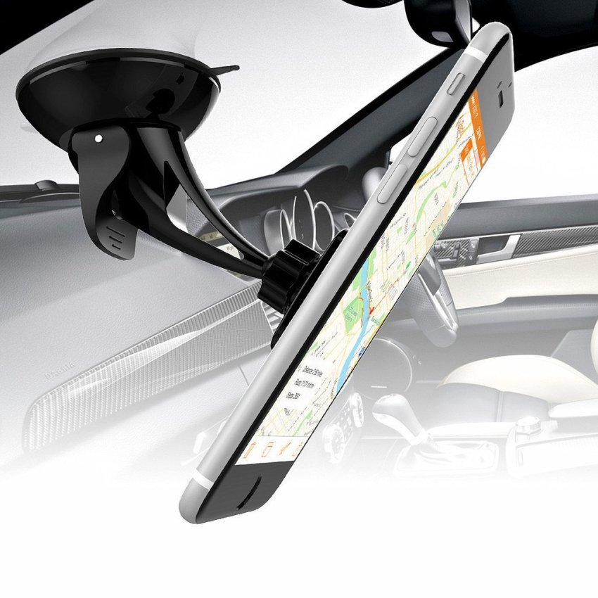 Universal Magnetic Windshield Cell Phone Car Mount Holder Cradle For iphone Android Smartphones Black (Intl)