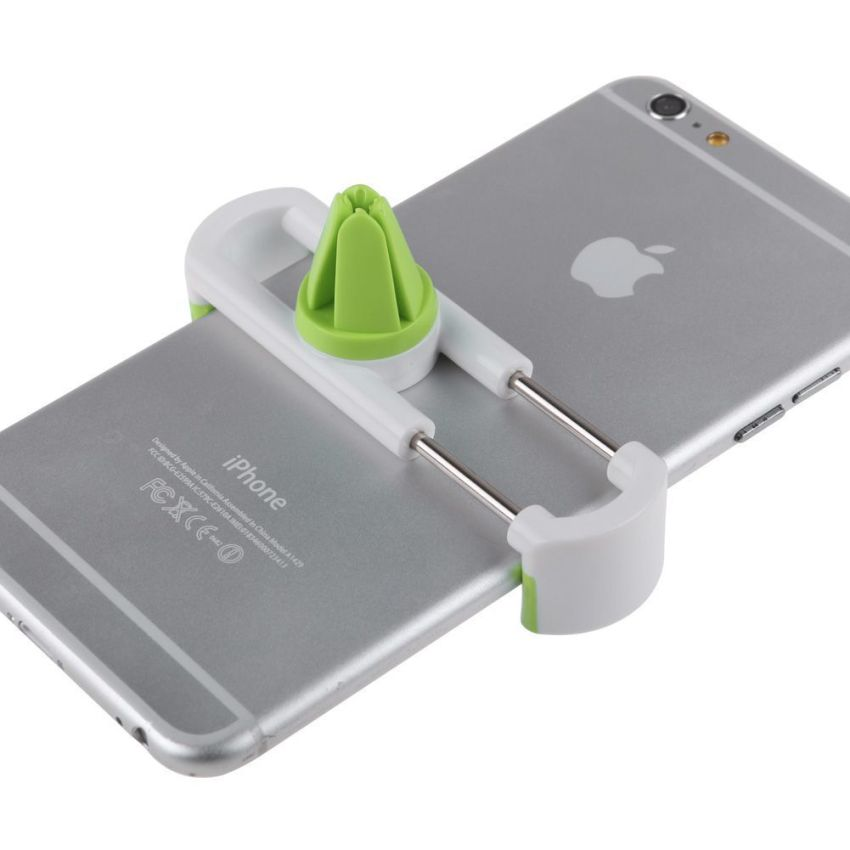 Universal Mini Car Air Outlet Holder Stents Vent Mount Support for Cell Phone (White Green) (Intl)