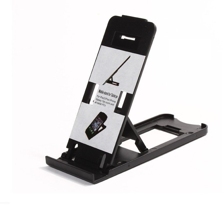 Universal Mini Mobile Phone Portable Desktop Holder Mount Stand Cradle Bracket for Cell Phone Ipad-Black (Intl)