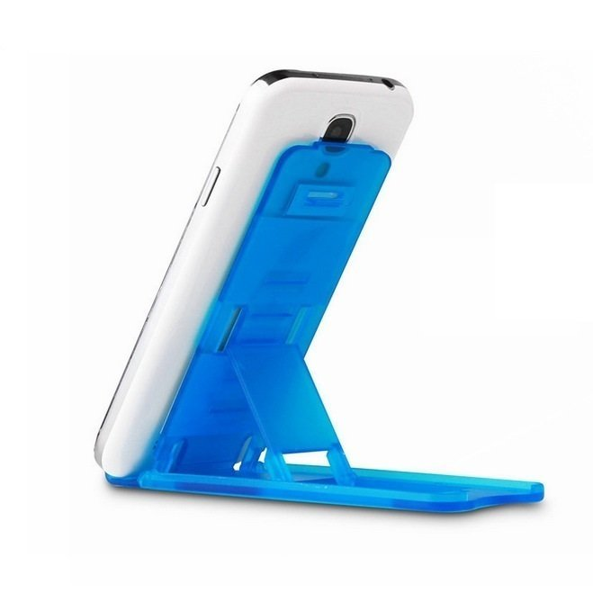 Universal Mini Mobile Phone Portable Desktop Holder Mount Stand Cradle Bracket for Cell Phone Ipad-Transparent Blue (Intl)
