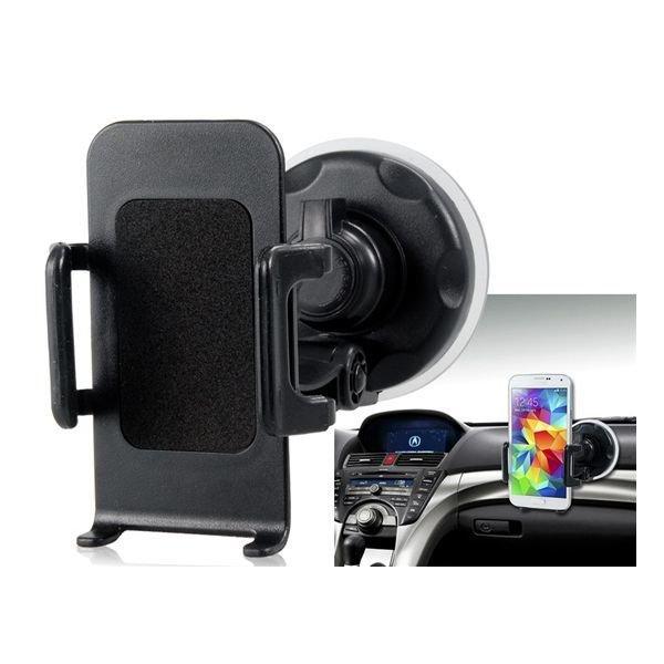 Universal Mobile Cell Phone Car GPS Navigation Holder Windshield Mount Holder (Black)