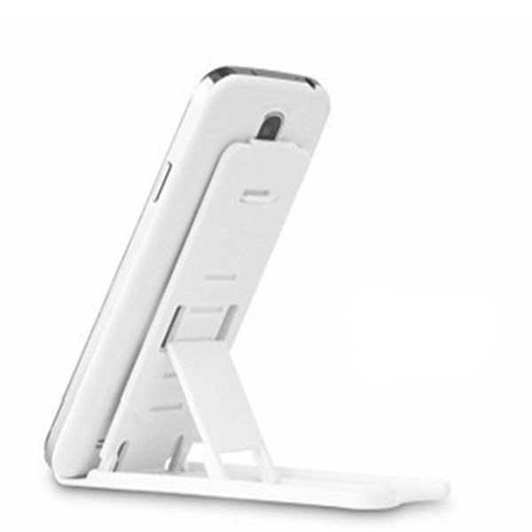 Universal Mobile Phone Portable Desktop Holder Mount Stand Cradle Bracket for Cell Phone Ipad (White) (Intl)
