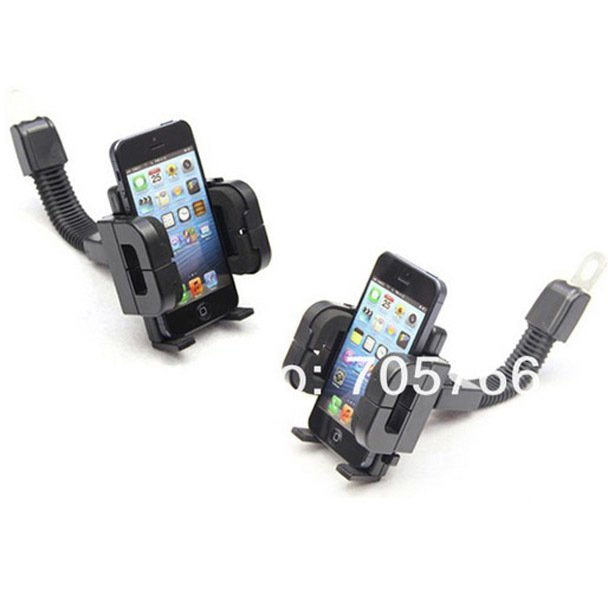 Universal Motorcycle Smartphone Mount Holder - Black