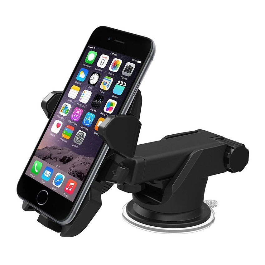 Universal Multi Long Neck One Touch Car & Desk Mount - Hitam