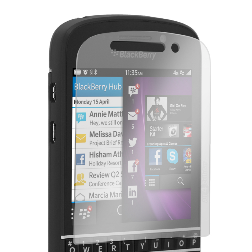 USA Tempered Glass for Blackberry Q10 Screen Protector -Clear