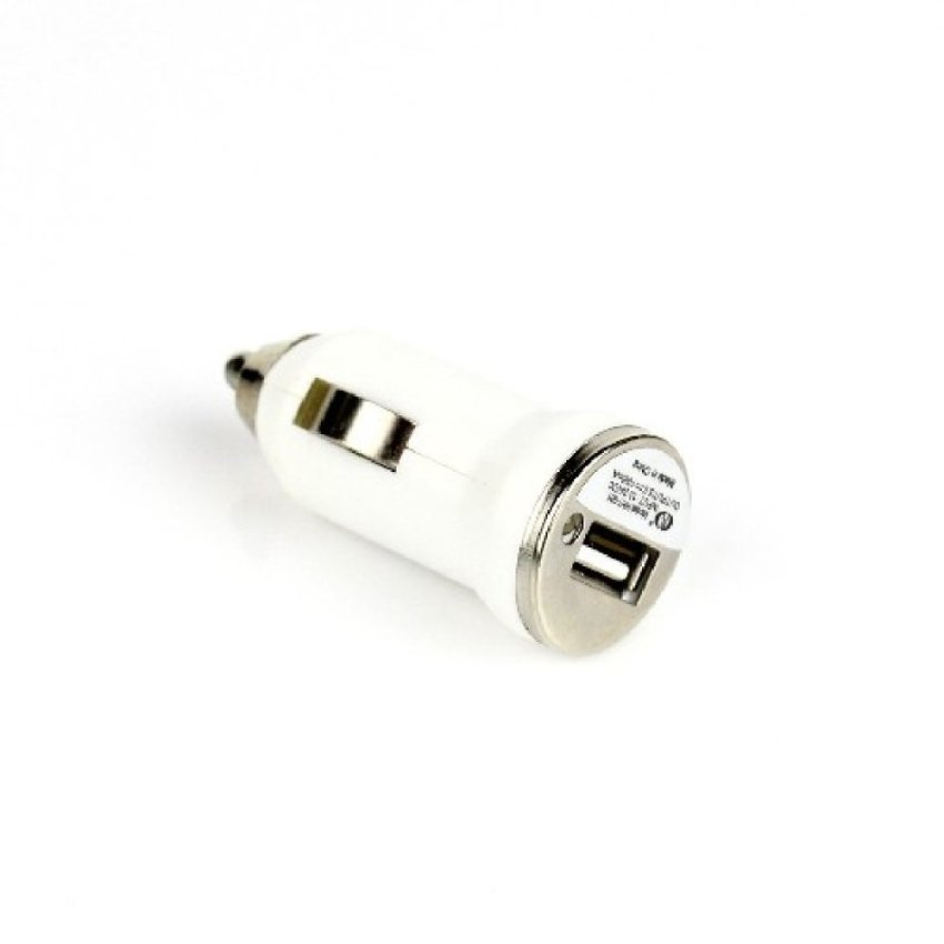 USB 2.0 Mini Car Charger Adapter For Apple iPhone 3GS 3G 4 4G 4S iPod white (Intl)