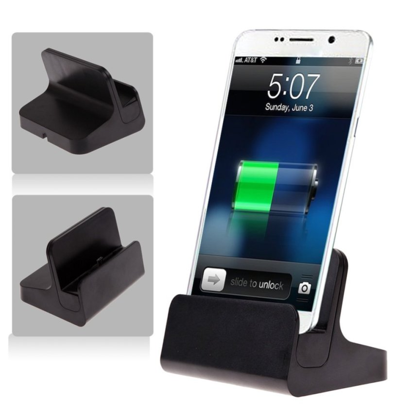 USB Wireless Dual Charger Cradle Dock for Samsung Note 5 (Black)