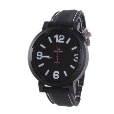 V6 215 Men's Casual Black Leather Analog Quartz Wrist Watch (Intl)