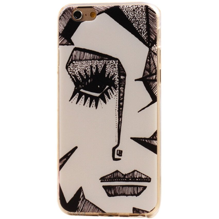Vanki Art Designed Pattern PC Silicone Case for iPhone5/5S (Multicolor) (Intl)