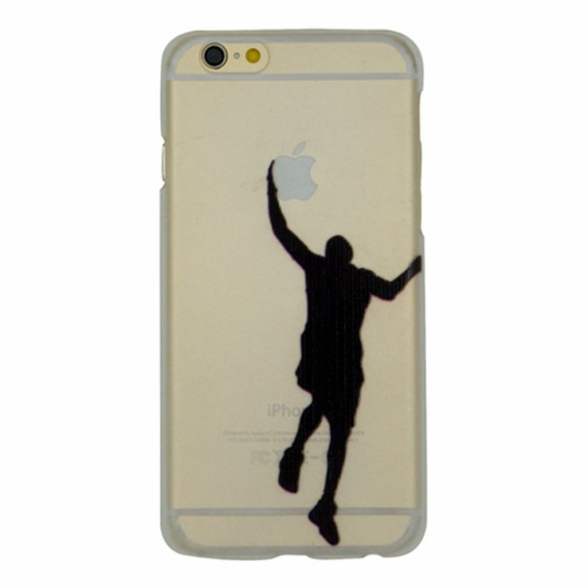 Vanki PC Art Designed Pattern Silicone Case Back Cover Skin Protector for iPhone6 4.7 (Clear) (Intl)