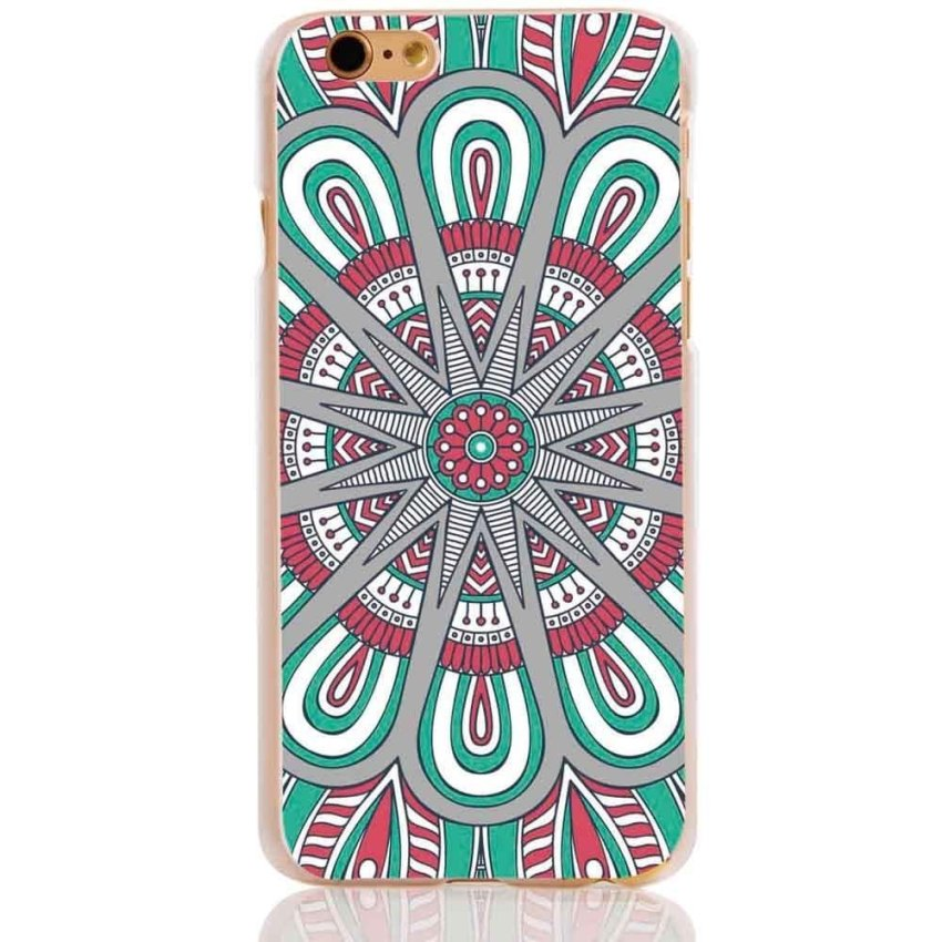 Vanki PC Art Designed Pattern Silicone Case Back Cover Skin Protector for iPhone6 4.7 (Multicolor) (Intl)