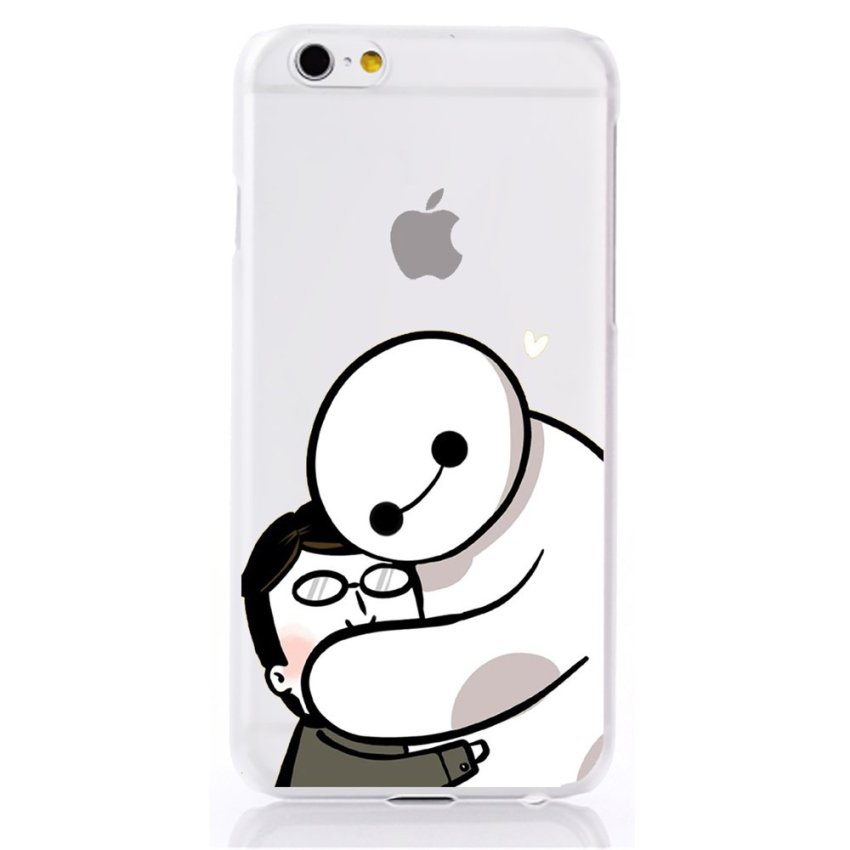 Vanki PC Art Designed Pattern Silicone Case Back Cover Skin Protector for iPhone6 4.7 (White) (Intl)
