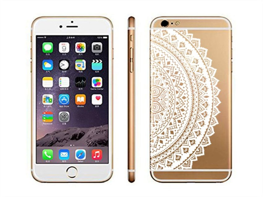Vanki TPU Art Designed Pattern Silicone Case Back Cover Skin Protector for iPhone6 4.7 (Multicolor) (Intl)