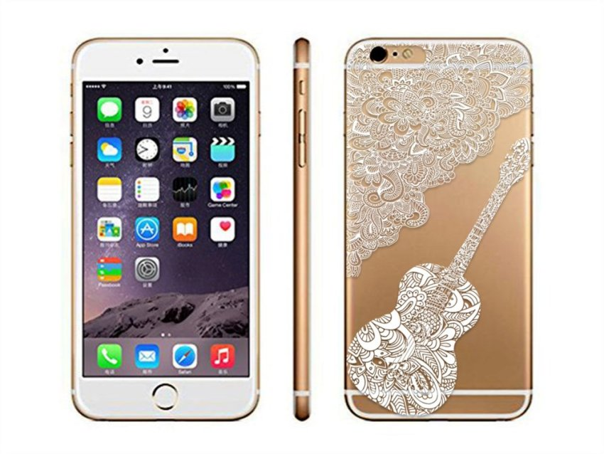 Vanki TPU Art Designed Pattern Silicone Case Back Cover Skin Protector for iPhone6P 5.5 (Multicolor) (Intl)