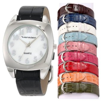 Vernier Women's VNR66657.10 Pieces Interchangeable Polyurethane Strap Quartz Watch - Intl