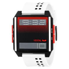 Vestal Unisex DIG028 Digichord Digital Display Quartz White Watch - Intl