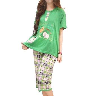vibelle shop baju tidur setelan 300335 hijau lazada