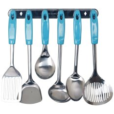 Vicenza Kitchen Tools S/S VK915C - 7 Buah - Biru Muda