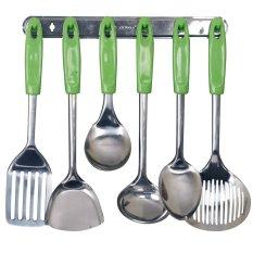 Vicenza Kitchen Tools S/S VK915C - 7 Buah - Hijau