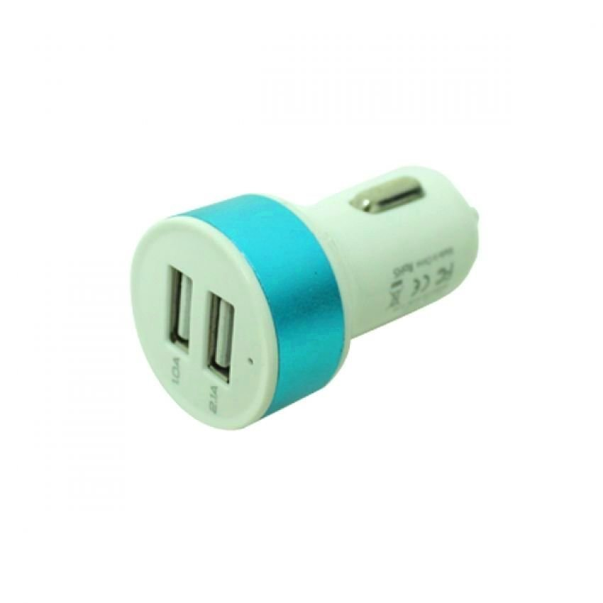 VIDTech 2.1 Two USB Output In Car Charger Adapter T2 Blue (Intl)