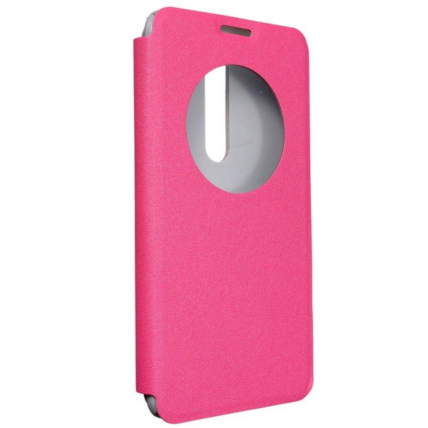 View Flip PU Cuoio Case Custodia PC Cover forr Asus Zenfone 2 ZE551ML 5.5'' (Pink) (Intl)