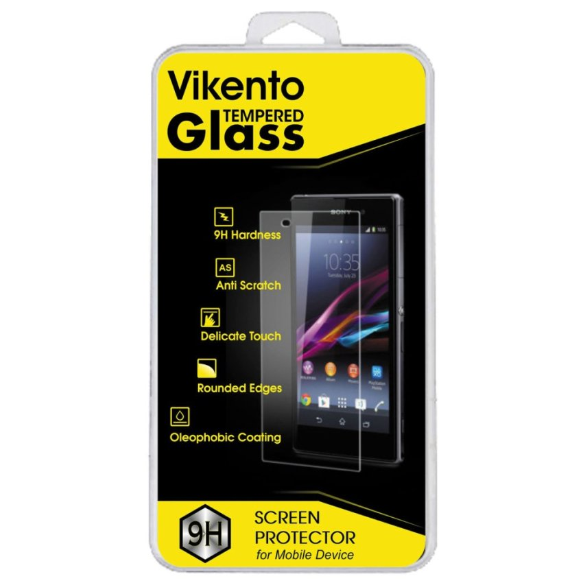 Vikento Glass untuk LG L80 / D355 - Premium Tempered Glass Round Edge 2.5D