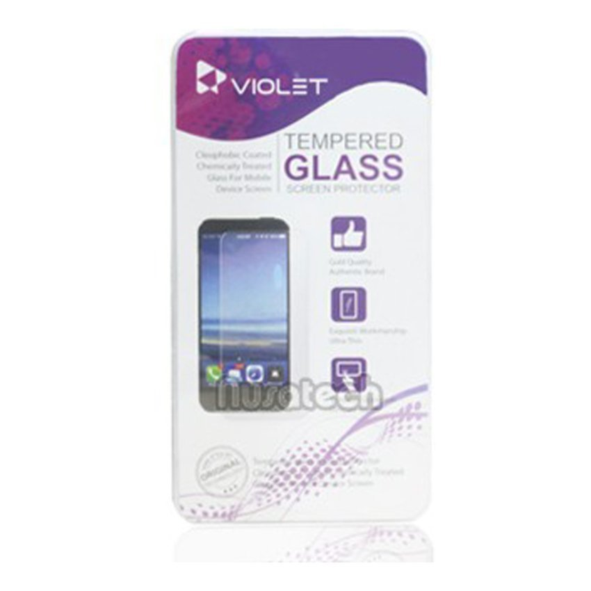 Violet Samsung Galaxy J1 Tempered Glass Screen Protector - Clear