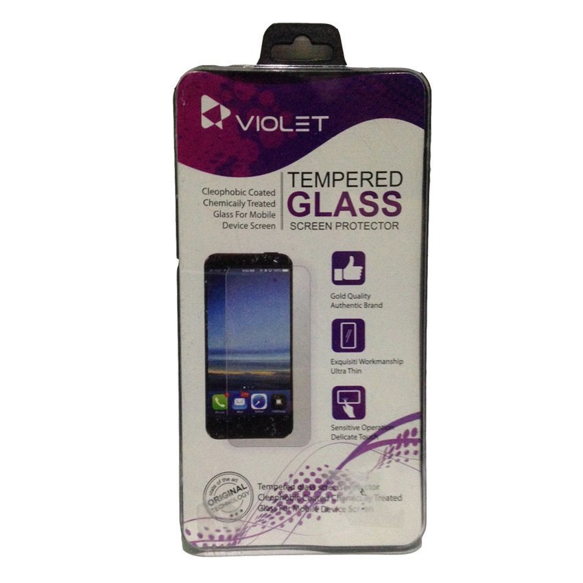 Violet Samsung J5 Tempered Glass Screen Protector - Clear
