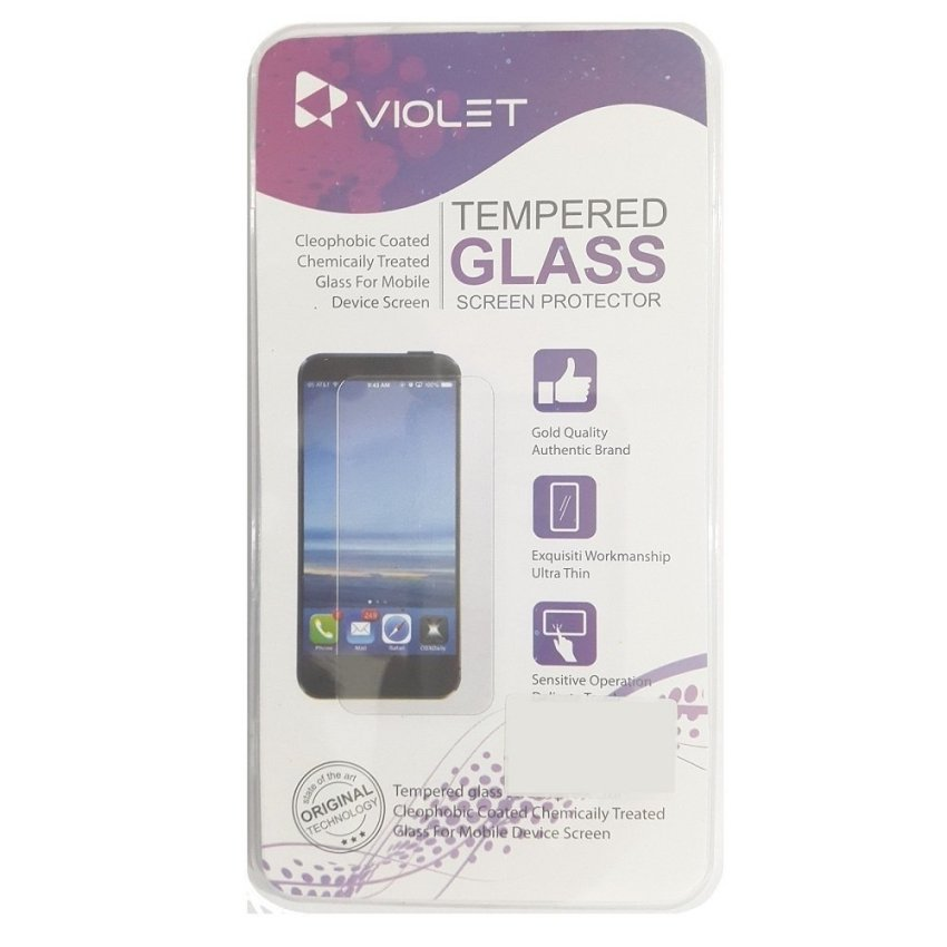 Violet Tempered Glass Asus Zenfone 2 ZE500CL