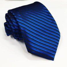 VM Dasi Fashion Slim Stripe Biru Benhur - Slim Tie