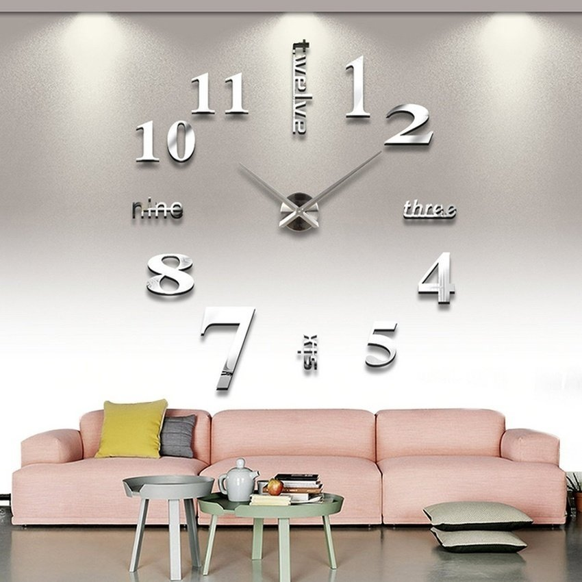 Vococal Modern DIY Large 3D Wall Sticker Clock Decoration