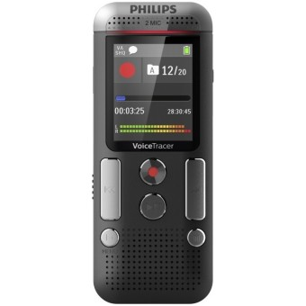 Voice Recorder Philips DVT 2510 - 8GB - Hitam