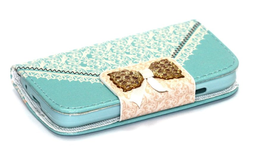 Wallet Batik Riboon Flip Cover Batik Ribbon for Samsung Galaxy V G313 - Biru Muda