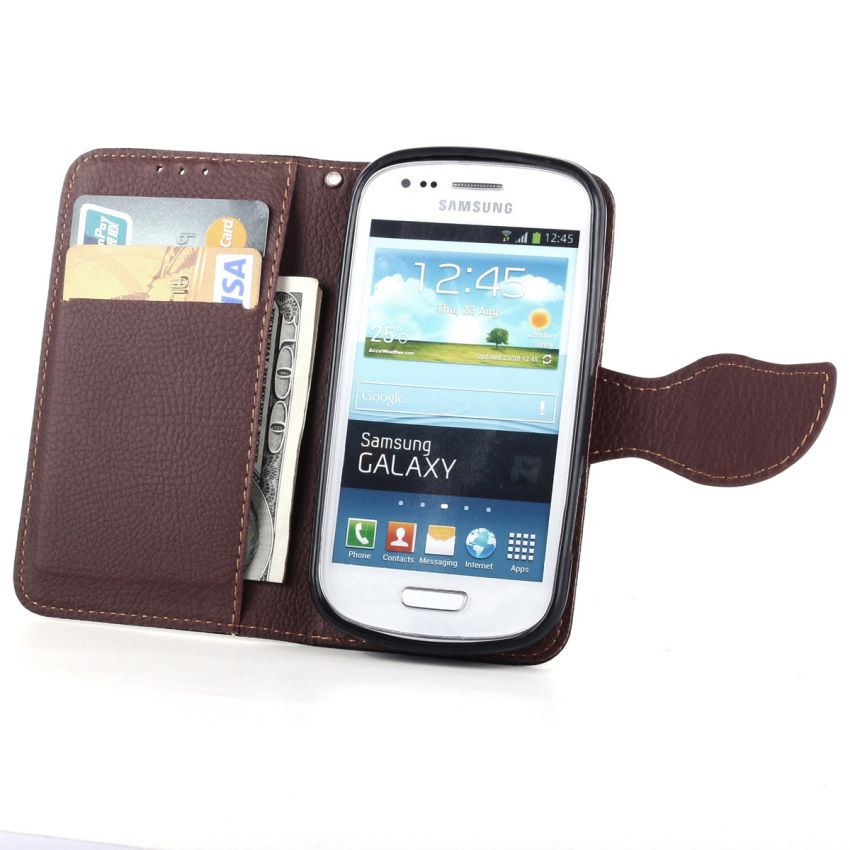 Wallet Flip Leather Case Cover With Card Slot Holder For Samsung Galaxy Trend Duos S7562 (Green) (Intl)