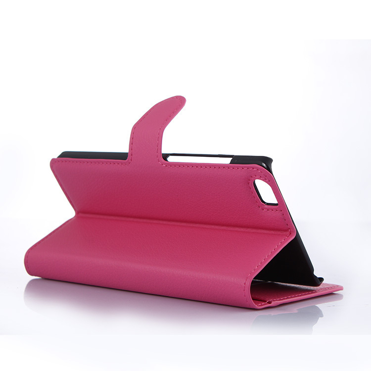 Wallet Flip Leather Case With Card Bag Holder For Xiaomi Note Rose Red (Intl)