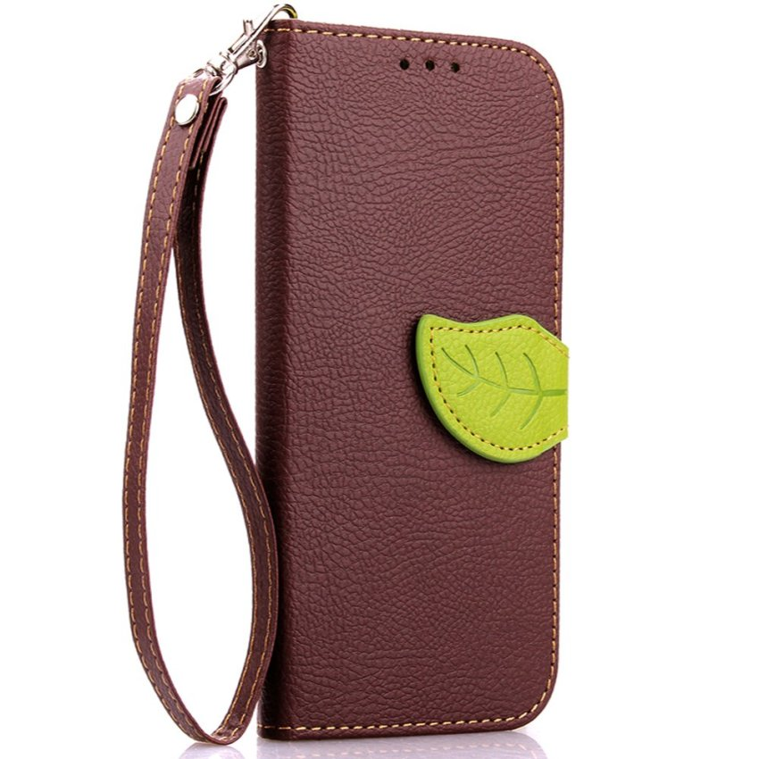 Wallet Flip Leather Case With Card Slot Holder For HTC One M9 Brown (Intl)