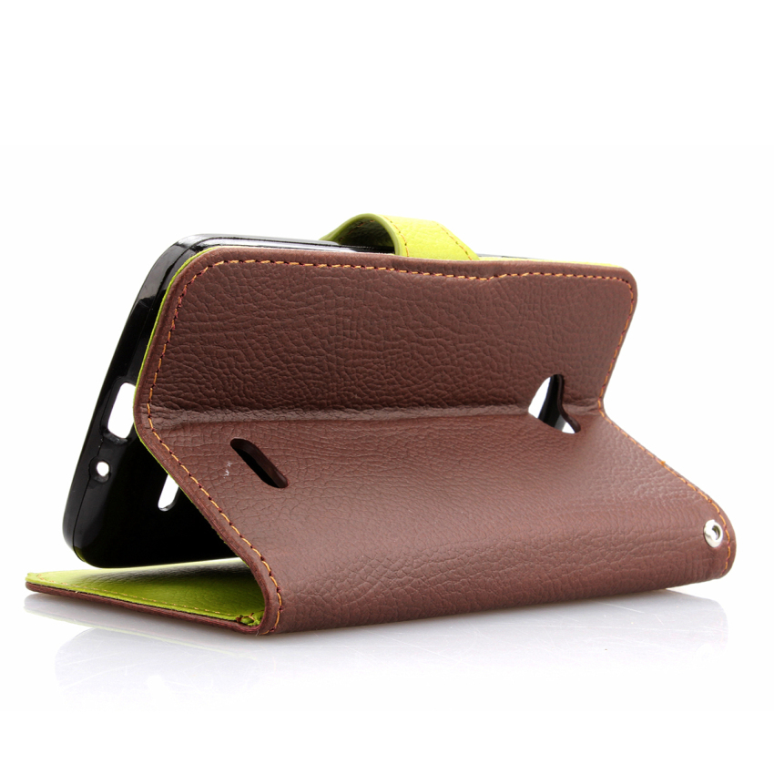 Wallet Flip Leather Case With Card Slot Holder For LG L70 Brown (Intl)