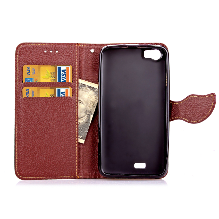 Wallet Flip Leather Case with Card Slot Holder for Wiko Lenny (Pink) (Intl)