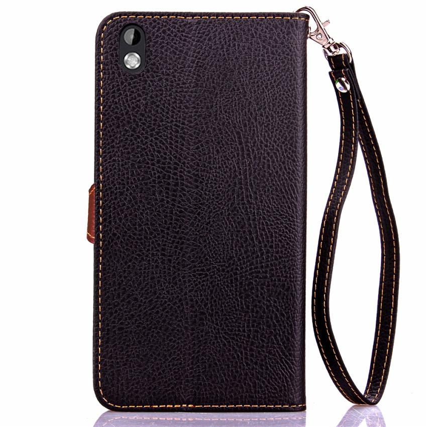 Wallet Flip Leather Cover for HTC Desire 816 (Black) (Intl)