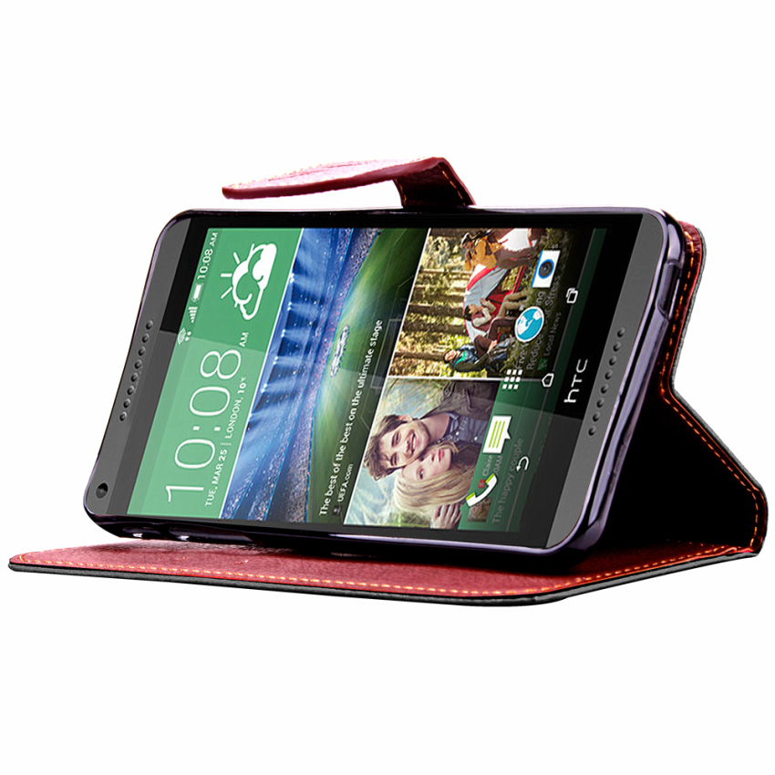 Wallet Flip Leather Cover for HTC Desire 816 (Black) (Intl)