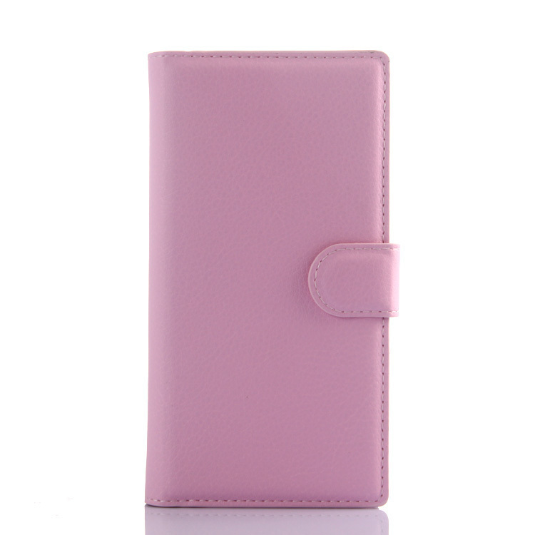Wallet Flip Leather Cover for Wiko Highway Star 4G (Pink) (Intl)