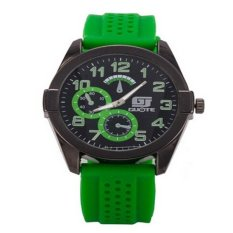 Watches Men Luxury Top Brand Fashion Leather Band Unisex Quartz Watches Women Business Casual Wrist Watch Relogio Masculino (Green)