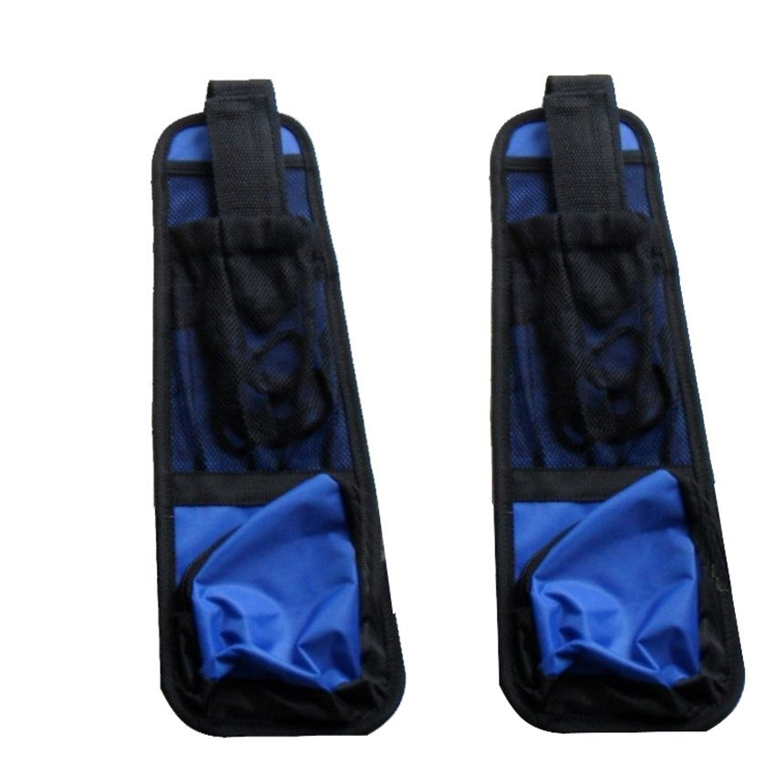 Waterproof fabric Car Auto Vehicle Seat Side Back Storage Pocket Backseat Hanging Storage Bags Organizer (Blue) (Intl)